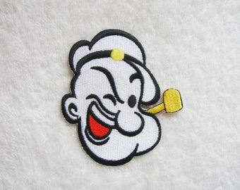 Popeye Iron On Patch Embroidered Applique Patches For Jackets