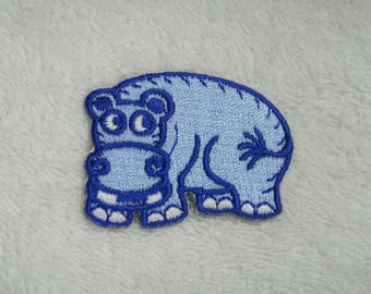 Hippopotamus Iron On Patch Hippo Embroidered Applique Patches For Jackets