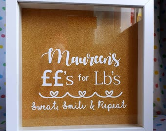 Weight loss fund, pounds for pounds, motivation, weight loss, treat fund, personalised savings, slimming world, new year, resolutions, goal