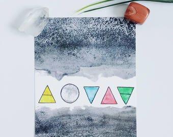 The Elements 5 x 7 Print/Postcard