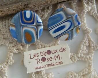 Clips d'oreilles style Klimt