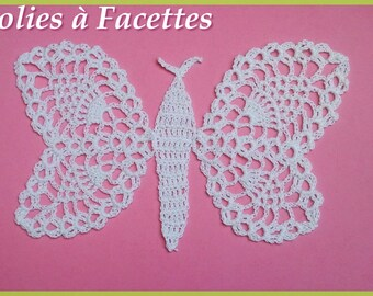 Doily or used: White Butterfly crochet cotton