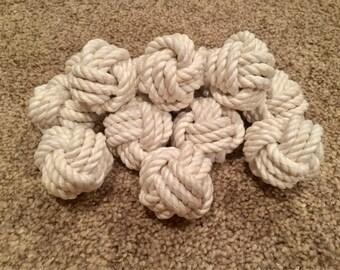 Set of 12 monkey fist knots