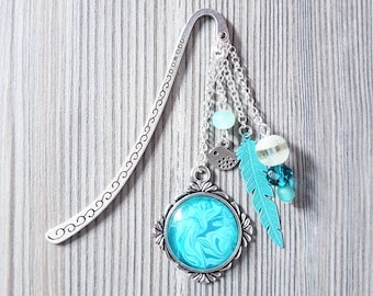 Bookmark Turquoise feather