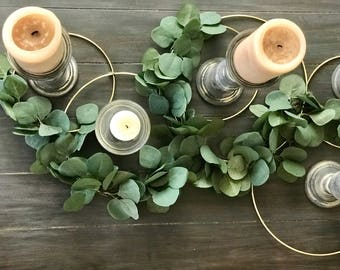 Gold Greenery Rings (table decor)