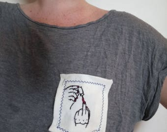 T-shirt Pocket with Nails Did