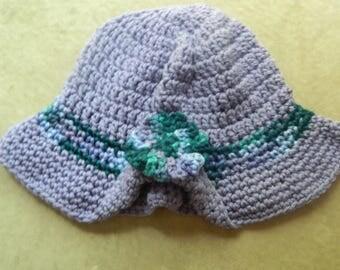 Crochet Purple Floppy Hat