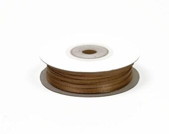 3mm - reel 50 m ref 846 light brown satin ribbon