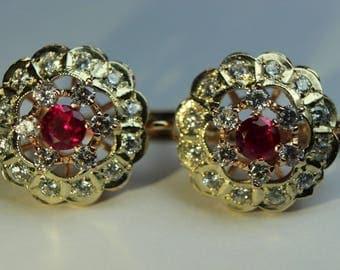 14K 585 ROSE GOLD earrings