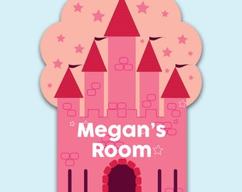Personalised Princess Castle Bedroom Door Name Plaque - Princess Theme Gifts for a Princess  sc 1 st  Etsy & Princess door sign | Etsy pezcame.com