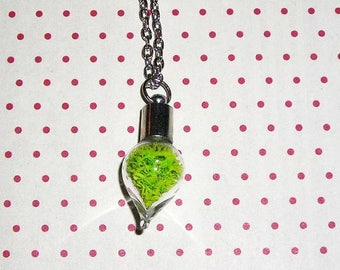 MOSS necklace drop vial (bottle necklace)