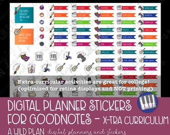 A Wild Plan - Digital Stickers for extra Curricular activites - Digital Download for digital planners |GoodNotes |iPad