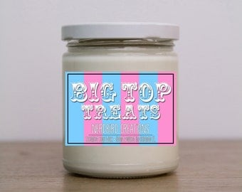 Big Top Treats 8oz scented soy candle