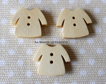 20 wooden buttons x shaped garment sweater fashion 17mm
