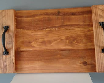 Rustic Wood Serving Tray