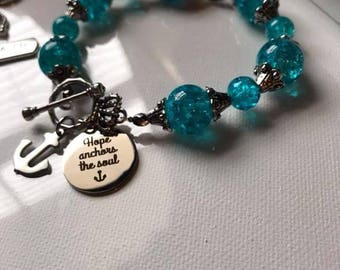 Hope anchors the soul bracelet