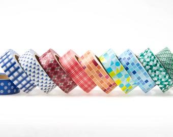 Washi tape set of 10. Masking tape, set of washi tape