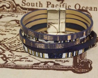 Multi strands leather bracelet