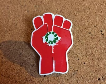 Peyote Button Fist Hat Pin