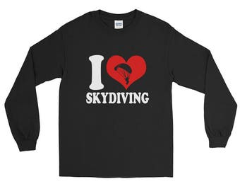 I Love Skydiving Skydiver Lover Long Sleeve T-Shirt