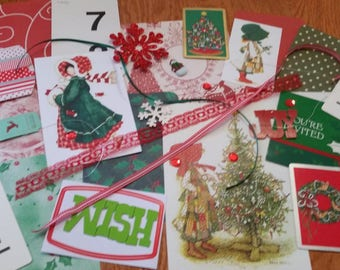 Holly Hobbie Christmas Inspiration Kit #2 / 30+ Pieces / Vintage & New / Collage pack/junk journal pack / pen pal lot
