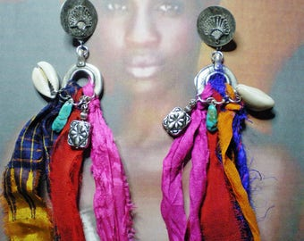 AFRO-BOHEMIAN EARRINGS & & & colours African COLLECTION & & &