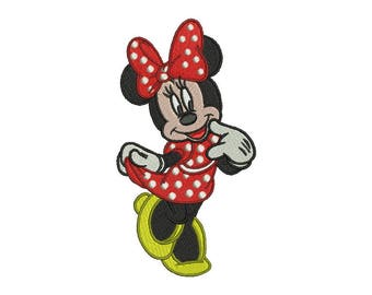 Minnie Mouse Embroidery Design #1 - 4 SIZES