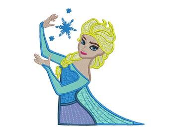 Elsa Embroidery Design - 5 SIZES