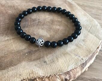 Onyx and Silver 925 bracelet