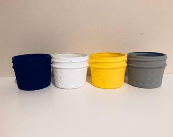Small painted jars!