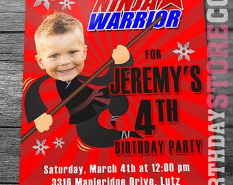 American Ninja Warrior Invitation - Ninja Warrior Invite - Ninja Birthday Invitation - American Ninja Warrior Birthday Party