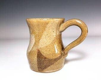 Beige Mug / Ceramic Mug / Wheel Thrown Mug / Stoneware Mug / Handmade Mug / Pottery Mug