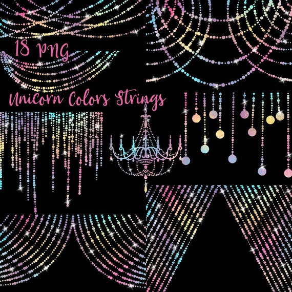 String Lights Clipart Simple Unicorn Colors String Lights Clipart Chandelier Clip Art Fairy