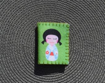"""Needle green and yellow """"Japanese Doll"""""""