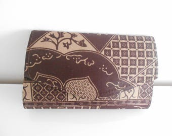 Evening clutch printed wax (African fabric)