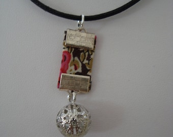 Ball liberty pendant charm necklace