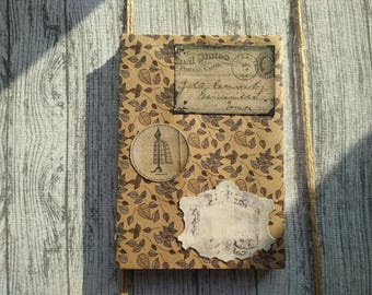 Vintage style notebook