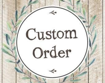 Custome order sample deposit