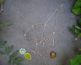 Head Fox origami 02098 embellishment wooden creations