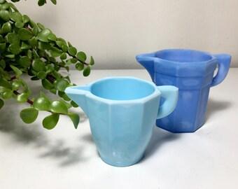 Vintage Akro Agate Blue Child's Tea Set Dishes