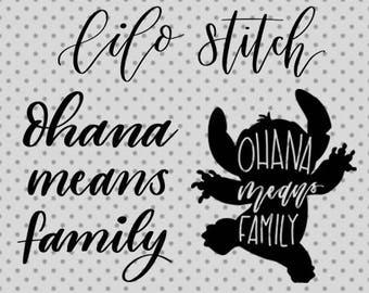 lilo and stitch SVG, lilo and stitch cricut, ohana means family, lilo svg, stitch svg, lilo stitch svg