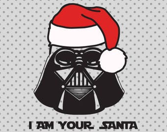 Star wars SVG, Christmas svg, Star wars christmas Svg, Darth Vader svg, Santa hat svg, Star wars cricut, Darth Vader cricut, Santa Cricut