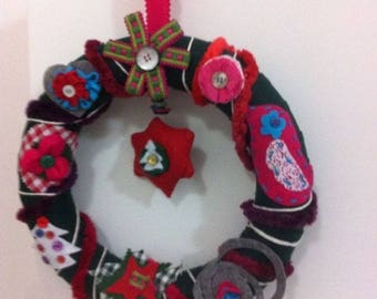 Christmas Wreath to hang in Nordic style