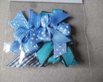 x 10 mixed knots Recreatys tone blue pattern/plain 35 x 25 mm