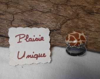 Giraffe ring Brown and Beige