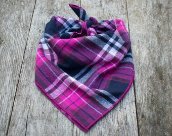 Amethyst Plaid Dog Bandana