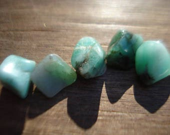Rough Green Emeralds - 5 Raw Green Emeralds - 24 Ct Beautiful Raw Emeralds Lot MG1216
