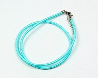 Silk 3mm cord / Choker - Turquoise Blue