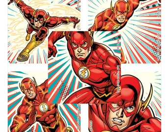 "25 The Flash Stickers, 2.5"" x 2.5"" Each"