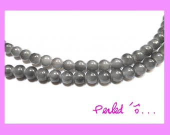 10 grey glass 10 mm size beads